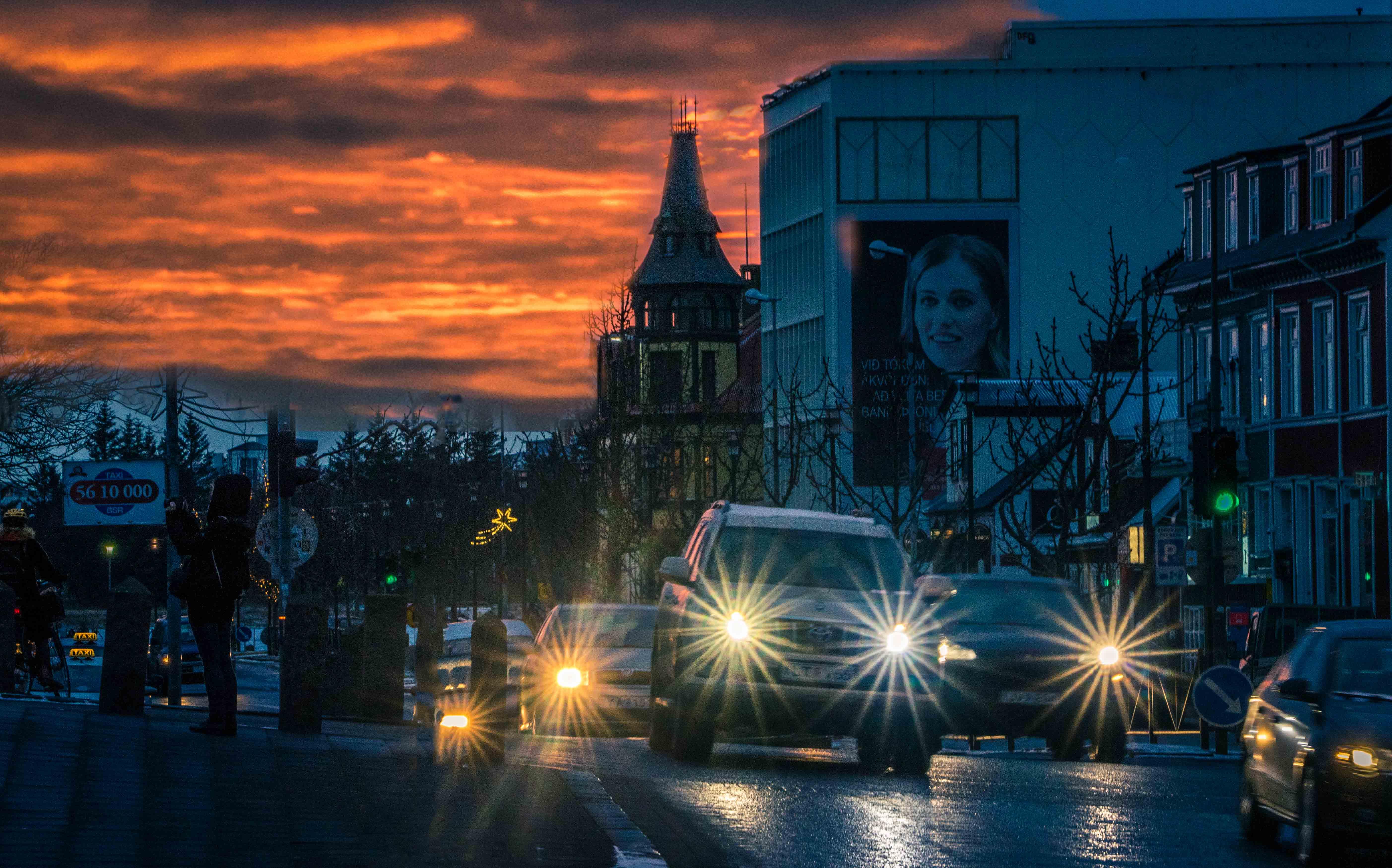 Reykjavik Iceland Sunset